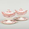 Group of Wedgwood Puce Decorated Creamware Table Articles