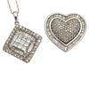 Collection of Two Diamond, White Gold Pendants