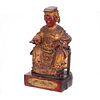 Lacquered Wood Daoist Deity Figure, 19th Century