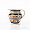 Cat's-eye and Slip-decorated Pearlware Pitcher