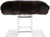 Lucite and Fur Bench, 1980's