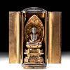 Japanese Meiji Period Gold & Wood Zushi Shrine