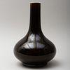 Chinese Dark Aubergine Glazed Bottle Vase