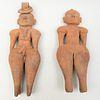 El Salvadorian Terracotta Male and Female Figures