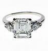 Lady's 3.19 Diamond Platinum Engagement Ring