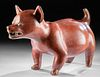 Large Colima Redware Dog - Museum Quality