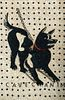 """Vatican workshop  (It. late19th Century)     -  """"Cave Canem"""" (Beware of the Dog)   -   A micromosaic plaque"""