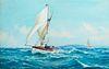 Montague Dawson (Br. 1890-1973)     -  Sailing Day   -   Gouache on paper
