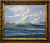 Michael Whithand, English marine painter, circa 1990, -Courtesy of David Brooker Fine Art, UK