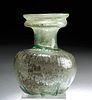 Published Roman Glass Sprinkler Flask w/ Ribbing