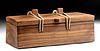 19th C. Palau Wood Heirloom Box w/ Olana & Cowrie Ties