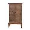 """Cabinet. 20th century. Carved in wood. Two hinged doors with knob-like handles. 59 x 33 x 17.7"""" (150 x 84 x 45 cm)"""