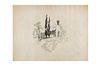 Prieto, Miguel. Sin Título. Tinta sobre papel, 19 x 17.5 cm., firmado.