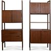 Pair Of Mid Century Wall Unit Shelving