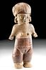 Important Large Chorrera Pottery Standing Female Figure