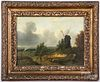 Attributed to Patrick Nasmyth oil landscape