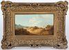 George Morland oil on panel landscape