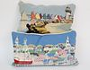 "Two Needlepoint Pillows, ""Rainbow Fleet, and ""Town of Nantucket"""
