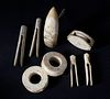 8 Whale Ivory and Whalebone Artifacts, mid 19th Century