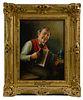 Otto Kirchner (German, 1887-1960) 'Bauer mit Zieharmonika' Oil on Board