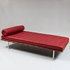 Mies van der Rohe for Knoll Leather, Chrome and Wood Barcelona Day Bed