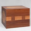 Louis David Designed Cubist Style Mahogany and Cherry Parquetry Pedestal