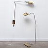 Cedric Hartman Brass and Chrome Floor Lamp and a Wall Light