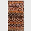 Orange and Red Woven Rug