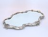 A FABERGE SILVER MIRROR PLATEAU, Moscow 1899-1908,?of shaped oblong form wi