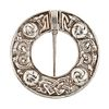 AN ALEXANDER RITCHIE PENNANULAR IONA BROOCH, the round brooch with Celtic k