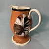 Dipped Fan Slip-decorated Creamware Pitcher