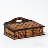 Paint-decorated Slant-lid Box Attributed to the Checkerboard Artist