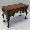 Chippendale-style Inlaid Walnut Veneer Dressing Chest