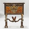 Renaissance-style Carved and Painted Hardwood Fall-front Desk