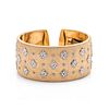MARIO BUCCELLATI, YELLOW GOLD AND DIAMOND CUFF BRACELET