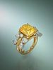 TIFFANY & CO., SCHLUMBERGER, YELLOW SAPPHIRE AND DIAMOND RING