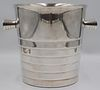SILVERPLATE. Christofle Silverplate Ice Bucket.