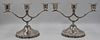 STERLING. Pair of Mexican Sterling Candelabra.