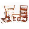 Set of Ten Huanghuali Miniature Furniture Items