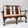 Fine Early George III Carved Mahogany Double Chair Back Settee