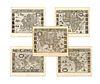 Blaeu, Willem Jansz.. Set of Five Maps (Blaeu)