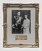 The Queen Mother,  King George VI Wedding Portrait Lithograph with 1924 Autographs -w/CoA- & $60K APR Value!+