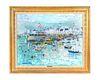 Yolande Ardisonne (French, b. 1927) Boats in Harbor