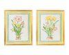 Peyton Carmichael (American, b. 1940) Amaryllis and Tulips with Butterlflies, 1987