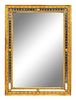 A Neoclassical Style Giltwood Rectangular Mirror 48 x 35 inches.