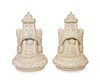 A Pair of Neoclassical Style Cast Stone Wall Mounted Urns