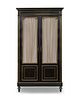 A Regency Style Ebonized and Gilt Metal Mounted Cabinet Height 86 1/4 x width 49 x depth 17 1/2 inches.