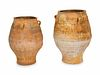 Two Monumental Terracotta Urns Height of taller, 43 1/2 inches.