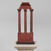 Large Italian Grand Tour Marble Model of The Temple of Castor and Pollux