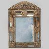 Flemish Baroque Brass Repoussé Mirror